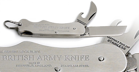 2 Piece British Army Locking Clasp Knife